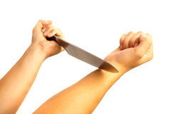 Cutting veins Royalty Free Stock Images