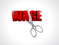 Cutting wage. illustration design Stock Photography