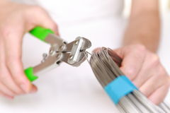 Cutting wire Royalty Free Stock Photos