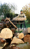 Cutting wood Stock Image