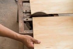 Cutting wood Royalty Free Stock Photos