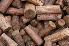 Wood texture background. Group of brown cutting wood Stock Image