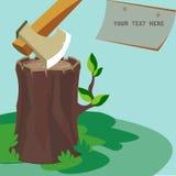 Cutting wood Royalty Free Stock Photo