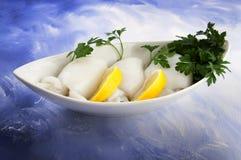 Cuttlefish с томатным соусом Стоковая Фотография RF