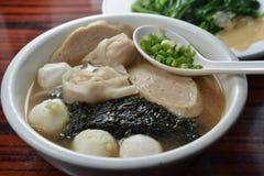 Cuttlefish ball seaweed soup Stock Photos