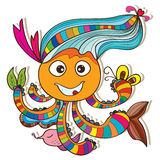 Cuttlefish happy free Stock Image
