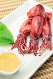 Cuttlefish które gotowałem się obraz stock