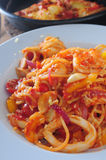 Cuttlefish spaghetti Royalty Free Stock Photo