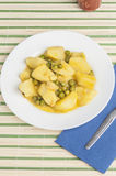 Cuttlefish stew with potatoes and peas series 08 Royalty Free Stock Photos