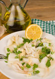 Cuttlefish tapa. A classic among traditional Spanish starters Stock Photography