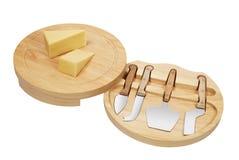 cuttting的干酪 免版税库存图片