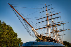 Cutty Sark on a clear day royalty free stock photos