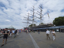 Cutty Sark clipper, Greenwich Village, London Royalty Free Stock Photography