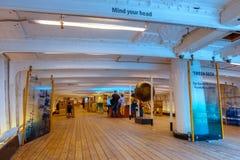 Cutty Sark dziejowy herbaciany cążki statek w Greenwich, Londyn, UK fotografia stock