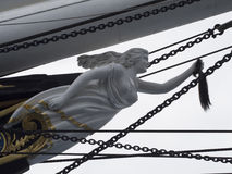 Cutty Sark figurehead, Greenwich Village, London stock photography
