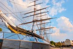 Cutty Sark, la nave de podadoras histórica del té en Greenwich, Londres, Reino Unido imagenes de archivo