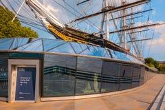 Cutty Sark, la nave de podadoras histórica del té en Greenwich, Londres, Reino Unido imagen de archivo libre de regalías