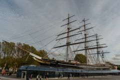 Cutty Sark museum in Greenwich, London, in late October stock photography