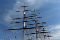 Cutty Sark statek Greenwich, Zjednoczone Królestwo zdjęcia royalty free