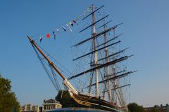 Cutty Sark Tea Clipper at Greenwich, England Stock Photography