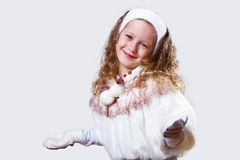 Cuty little girl in winter wear Stock Images