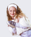 Cuty little girl in winter wear Royalty Free Stock Photos