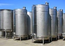 Cuves de fermentation Photographie stock