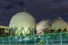 Cuves de stockage de gaz naturel Photo libre de droits