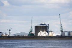 Cuves de stockage de pétrole et de gaz de port d'Anvers Image libre de droits