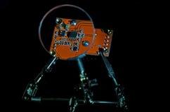 Cuvette électronique de vue de plat la lentille Image stock