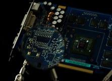 Cuvette électronique de vue de plat la lentille Image libre de droits
