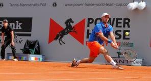 Cuvette 2012 d'équipe du monde de cheval de pouvoir de tennis Image libre de droits