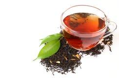 Cuvette avec du thé Images stock