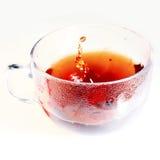 Cuvette avec du thé Images libres de droits