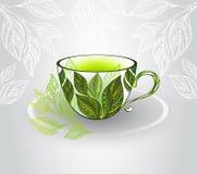 Cuvette avec du thé vert Image libre de droits
