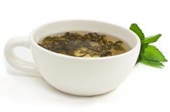 Cuvette avec du thé vert images stock