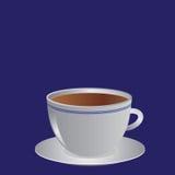 Cuvette blanche avec du café ou le thé, illustration Image stock