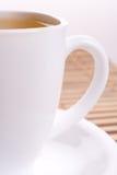 Cuvette blanche de thé Photo libre de droits