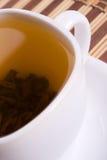 Cuvette blanche de thé Photographie stock