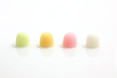 Cuvette colorée de gelée de fruit d'isolement dans le blanc Image libre de droits