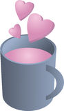 Cuvette d'amour illustration stock