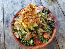 Cuvette d'arc-en-ciel : Salade de chou frisé Photos stock