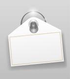Cuvette d'aspiration de silicones avec l'insigne illustration libre de droits
