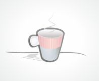 Cuvette d'illustration de café Photographie stock libre de droits