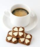 Cuvette de biscuits de café et de chocolat Image libre de droits