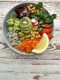 Cuvette de Bouddha de végétarien Image libre de droits