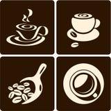 Cuvette de café. Épuisette de café Photos libres de droits
