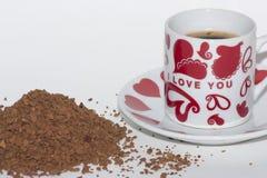 cuvette de café aromatique photographie stock