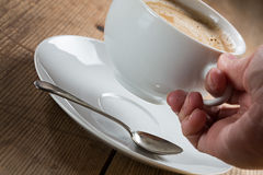 Cuvette de café avec de la mousse image libre de droits
