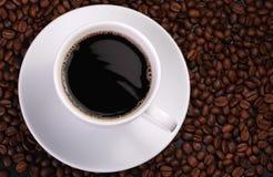 Cuvette de café avec l'onde images libres de droits